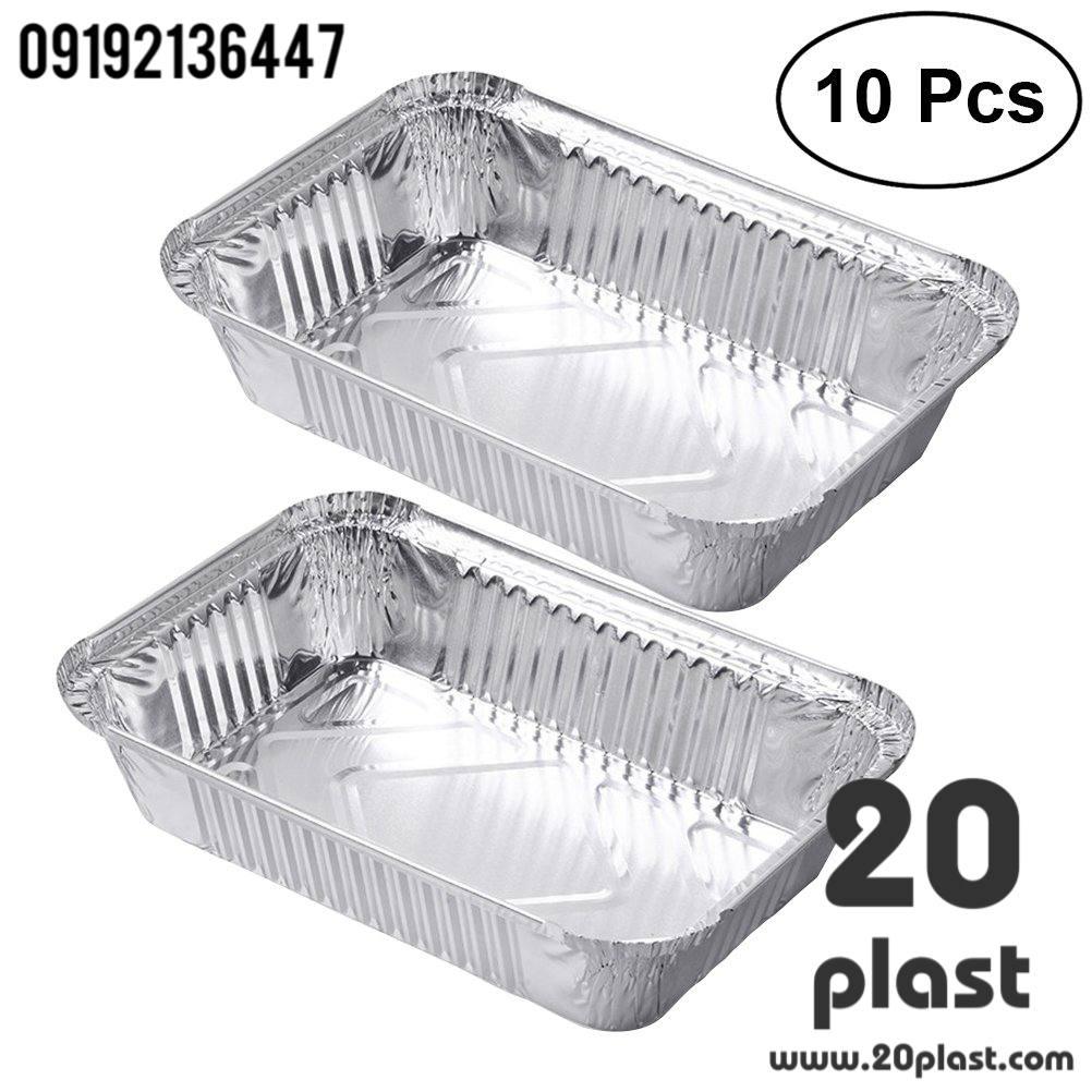 پخش کلی ظرف غذا یکبار مصرف درب دار آلومینیوم