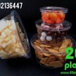 فروش ظرف یکبار مصرف گرد کریستالی شفاف